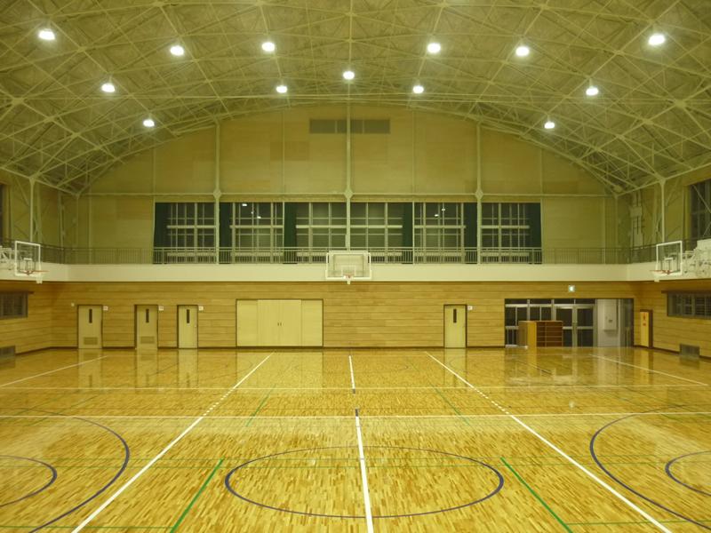 戸町中学校 屋内運動場大規模改造内部主体工事